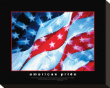 American Pride, Together They Gave Stretched Canvas Print