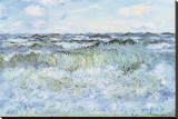 Seascape Stretched Canvas Print by Claude Monet