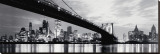 New York, Manhattan Skyline, 1965 Stretched Canvas Print