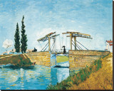 The Langlois Drawbridge Stretched Canvas Print by Vincent van Gogh