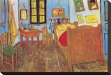 The Bedroom at Arles, c.1887 Impresso em tela esticada por Vincent van Gogh