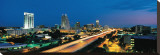 Orlando and Interstate 4 at Night Stretched Canvas Print