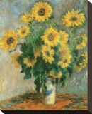Sunflowers Leinwand von Claude Monet