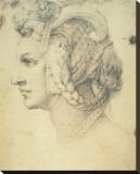 Zeichnung einer Frau Leinwand von Michelangelo Buonarroti