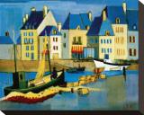 Le Croisic Sträckt Canvastryck av Andre Duret