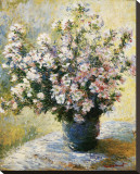 Vase of Flowers Stretched Canvas Print by Claude Monet