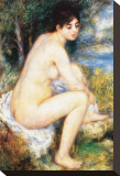 La Baigneuse Stretched Canvas Print by Pierre-Auguste Renoir