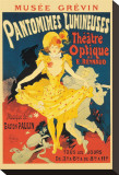 Pantomimes Lumineuses Stretched Canvas Print by Jules Chéret