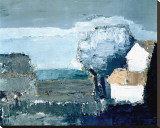 Paysage Mediterraneen Stretched Canvas Print by Nicolas De Sta&#235;l