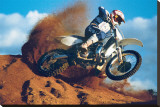 Motocross Stretched Canvas Print