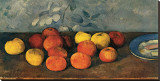 Pommes et Biscuits Stretched Canvas Print by Paul Cézanne