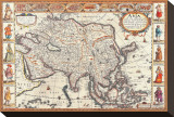 Antique Map, Asia, 1626 Stretched Canvas Print by John Speed