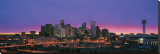 Denver Skyline at Night Stretched Canvas Print