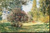 The Parc Monceau, Paris, c.1876 Stretched Canvas Print by Claude Monet
