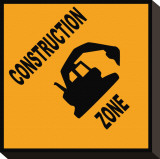 Construction Zone Stretched Canvas Print