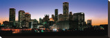 Houston Skyline at Night Stretched Canvas Print