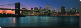 Brooklyn Bridge at Night Stretched Canvas Print