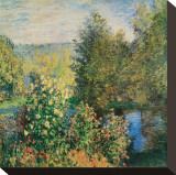 Corner of the Garden at Montgeron, c.1876 Stretched Canvas Print by Claude Monet