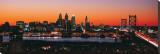 Philadelphia Skyline at Night Stretched Canvas Print