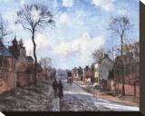 Road to Louvecienne Toile tendue sur châssis par Camille Pissarro