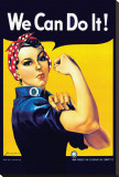 Rosie the Riveter Stretched Canvas Print by J. Howard Miller