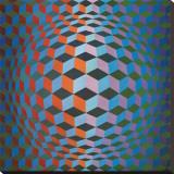 Squares Trykk på strukket lerret av Victor Vasarely
