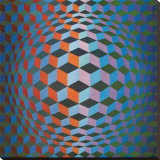 Squares Stretched Canvas Print by Victor Vasarely