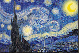 Starry Night, c.1889 Stretched Canvas Print by Vincent van Gogh