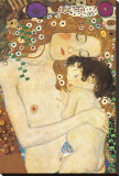 Mother and Child Stretched Canvas Print by Gustav Klimt