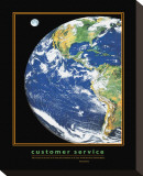Customer Service Stretched Canvas Print