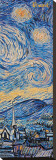 Starry Night, c.1889 (detail) Stretched Canvas Print by Vincent van Gogh