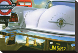 Lincoln Continental '56 in London Stretched Canvas Print by Graham Reynold