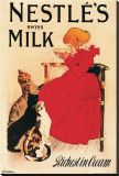 Nestle's Swiss Milk Stretched Canvas Print by Théophile Alexandre Steinlen