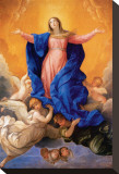 Assumption of Mary Stretched Canvas Print by Guido Reni