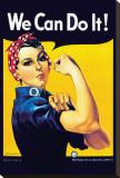 J. Howard Miller - Nýtařka Rosie Reprodukce na plátně