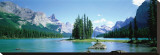 Maligne Lake Stretched Canvas Print