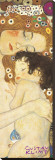 Mother and Child (detail) Stretched Canvas Print by Gustav Klimt