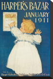 Harper&#39;s Bazar, January 1911 Reproduction transf&#233;r&#233;e sur toile
