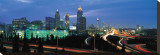 Atlanta Skyline at Night II Stretched Canvas Print