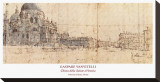 Church, Venice Stretched Canvas Print by Giuseppe Vanvitelli