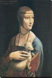 Lady with an Ermine Stretched Canvas Print by  Leonardo da Vinci