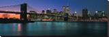 Brooklyn Bridge at Night Stretched Canvas Print