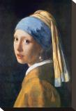 Muchacha con el pendiente de perla Reproducción de lámina sobre lienzo por Jan Vermeer