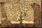 De levensboom Kunstdruk op gespannen doek van Gustav Klimt