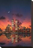 New York Skyline at Night Stretched Canvas Print
