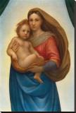 La Madonna di S. Sisto (particolare), 1483-1520 Stretched Canvas Print by  Raphael
