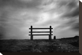 Bench and Clouds Stretched Canvas Print by Shane Settle