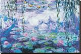 Nenúfares Reproducción en lienzo de la lámina por Claude Monet