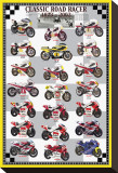 Classic Road Racers, 1973-2002 Stretched Canvas Print