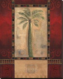Tropical Palms III Stretched Canvas Print by Louise Montillio